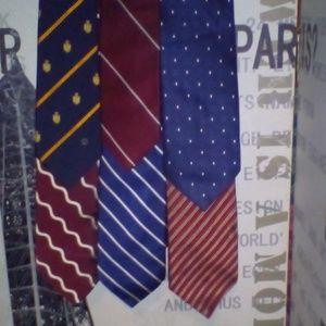 Lot of 6 designer ties